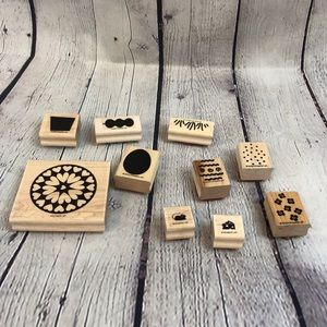 Lot of 10 Stampin' Up Rubber Stamps